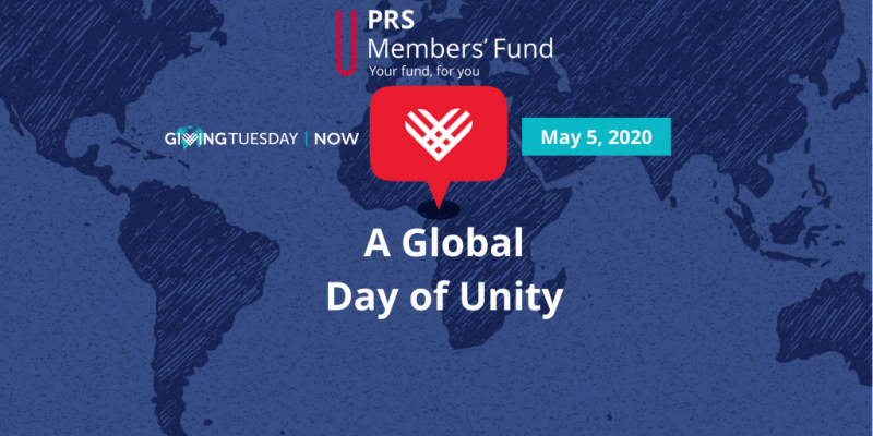 PRS Members' Fund joins #GivingTuesdayNow in Global Day of Giving and Unity